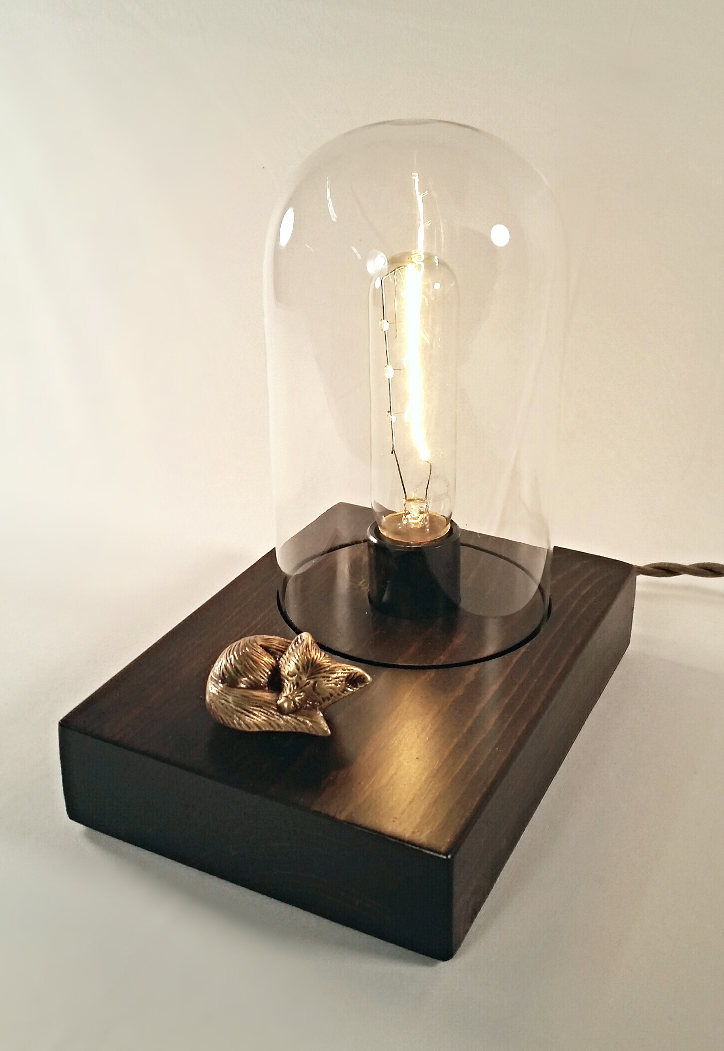 Sleeping Fox Edison Lamp Touch Controlled Lincoln Amp Hobbs